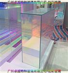 前臺桌炫彩裝飾玻璃