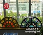 海派彩绘玻璃,彩绘镶嵌玻璃,欧式彩绘彩色玻璃,圆博工艺彩绘玻