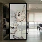 广州夹绢丝花鸟画玻璃 夹山水画玻璃 加工定制
