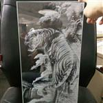 老虎图案导光玻璃