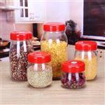 批发储物罐圆形带盖玻璃罐家用杂粮收纳罐透明玻璃密封罐规格齐全