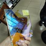 广州同民炫彩玻璃 钢化幻彩玻璃 艺术炫彩玻璃 单片6厘