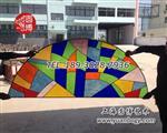 彩绘玻璃穹顶 彩色玻璃厂家制作供应