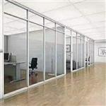 北京办公楼装修施工高隔间百叶玻璃隔断 65型