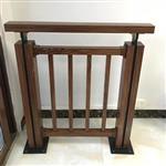 仿木纹锌钢阳台护栏 铝艺阳台护栏