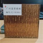 广州富景玻璃夹绢玻璃酒店玻璃背景夹丝玻璃定制