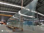 19mm厚超大彎鋼化超白玻璃