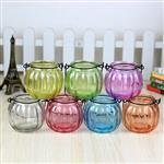 透明玻璃南瓜形玻璃吊花瓶