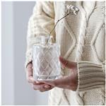 玻璃瓶高白料玻璃插花瓶桌面装饰瓶浮雕干花瓶