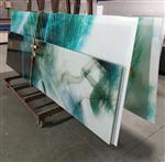 广州同民夹山水画玻璃 钢化夹娟玻璃