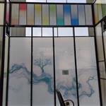 艺术玻璃山水画玻璃装饰