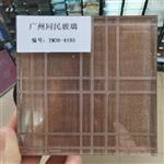广州同民艺术夹丝玻璃车刻玻璃背景屏风装饰