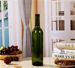 厂家供应375ml500ml750ml玻璃红酒瓶透明墨绿色棕色酒瓶 可配木塞