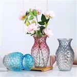 轻奢系家居玻璃钻石花瓶彩色喷涂桌面装饰插花器
