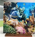 重庆钢化玻璃3D立体图案 艺术玻璃按尺寸定制