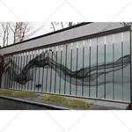 工艺玻璃定制山水画玻璃厂家供应