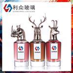 厂家定制金属兽头香水瓶狐狸锌合金盖香水玻璃瓶 动物头香水瓶