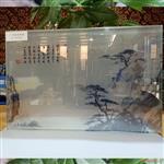 生产夹丝玻璃山水画玻璃艺术玻璃哪家好