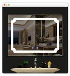 时尚防雾浴室无铜银镜 酒店时间触摸智能LED浴室镜