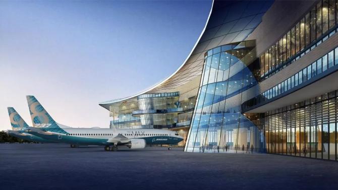 上海北玻助力波音737交付中心项目beplay官方授权幕墙顺利完工