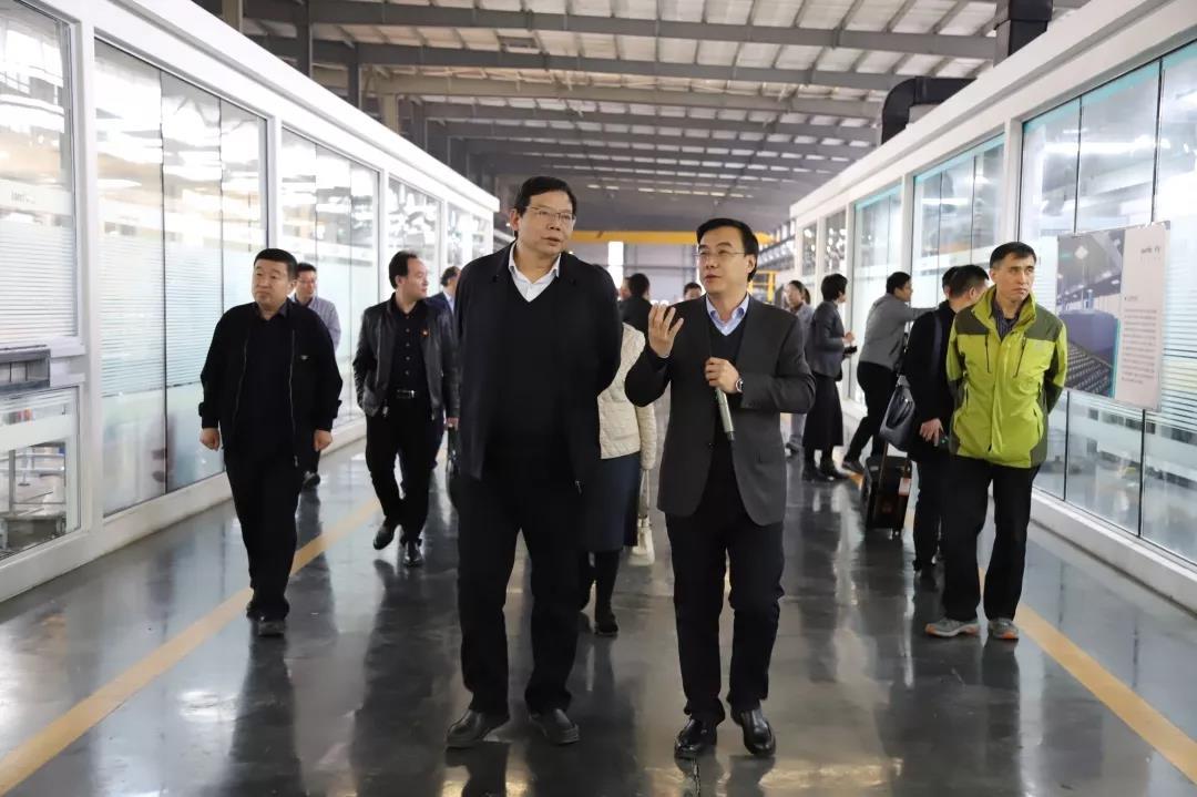 刘怀章一行调研洛阳兰迪玻璃机器股份有限公司