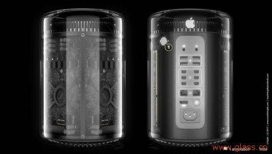 玻璃外壳的Mac Pro