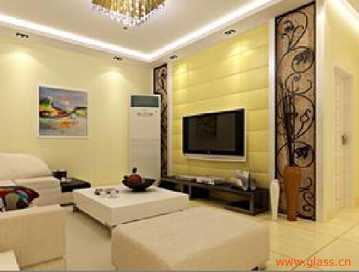 茶色玻璃电视背景墙,打造时尚家居风格