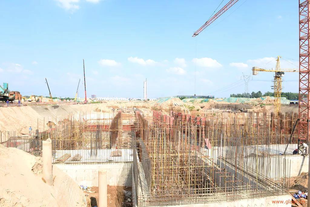 中联玻璃退市进园,光电玻璃、超白玻璃生产线项目土建工程中间节点完成