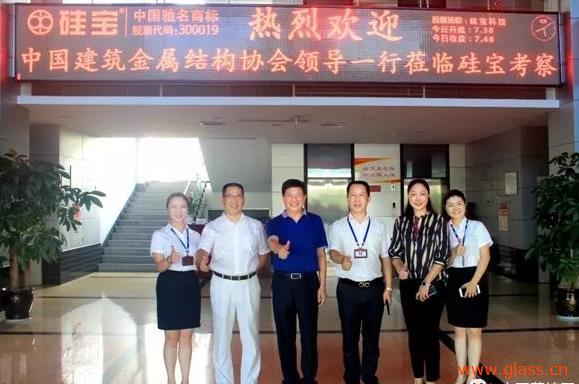 中国建筑金属结构协会宋为民、董红走访硅宝科技