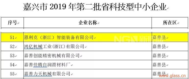 """恩利克获得 """"浙江省科技型中小企业"""" 认定"""