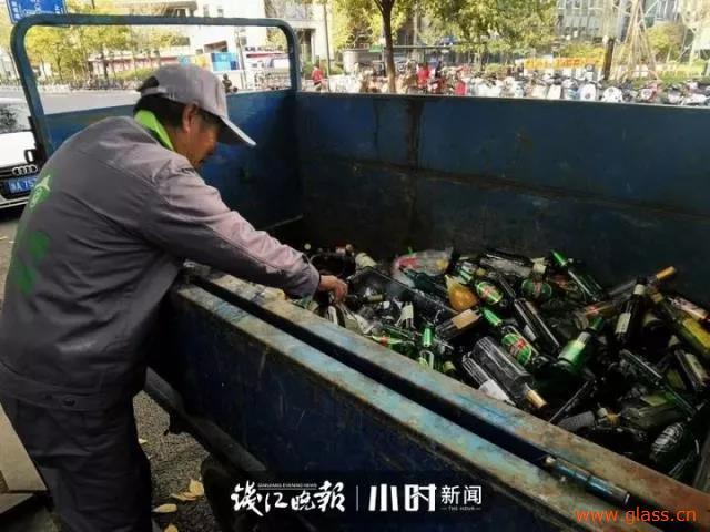 杭州某街区开通全市首条商街废旧玻璃收运专线