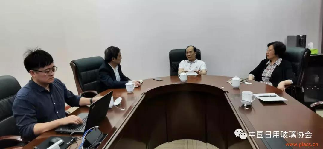 中国日用玻璃协会协会负责人到访广东华兴玻璃公司