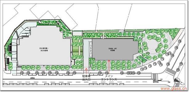 左边(南)是日本青年馆,右边(北)是日本奥林匹克广场
