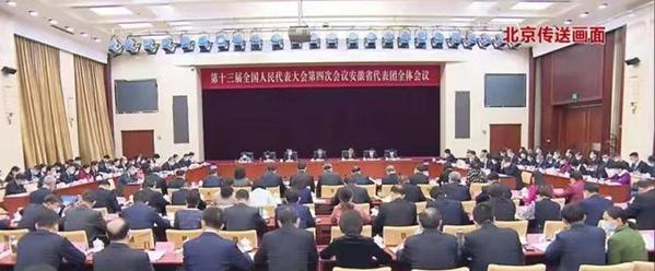 彭壽代表在安徽代表團全體會議上發言