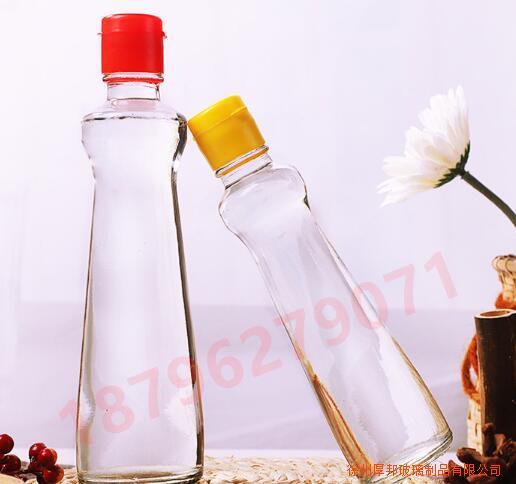 防漏香油瓶100ml加厚玻璃调味瓶密封500ml麻油瓶