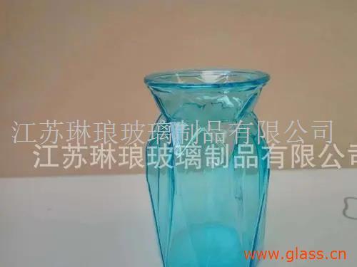 玻璃花瓶透明彩色玻璃瓶