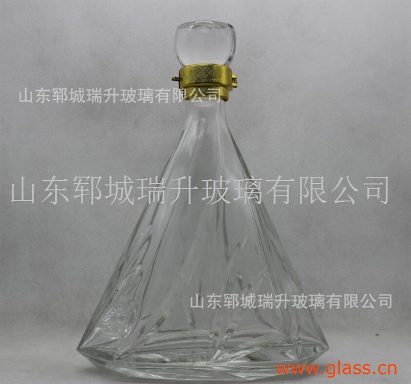 晶白料玻璃酒瓶