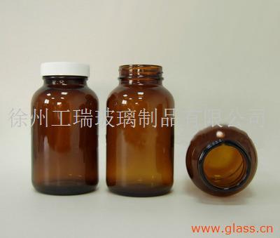 胶囊瓶棕色广口瓶药剂瓶大口试剂瓶四氟垫片化学瓶