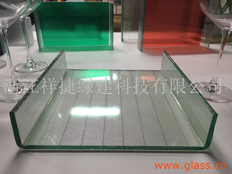 夹丝U型玻璃