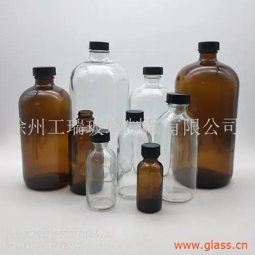 棕色采样瓶玻璃小口水样油样密封化学瓶透明玻璃瓶四氟垫片