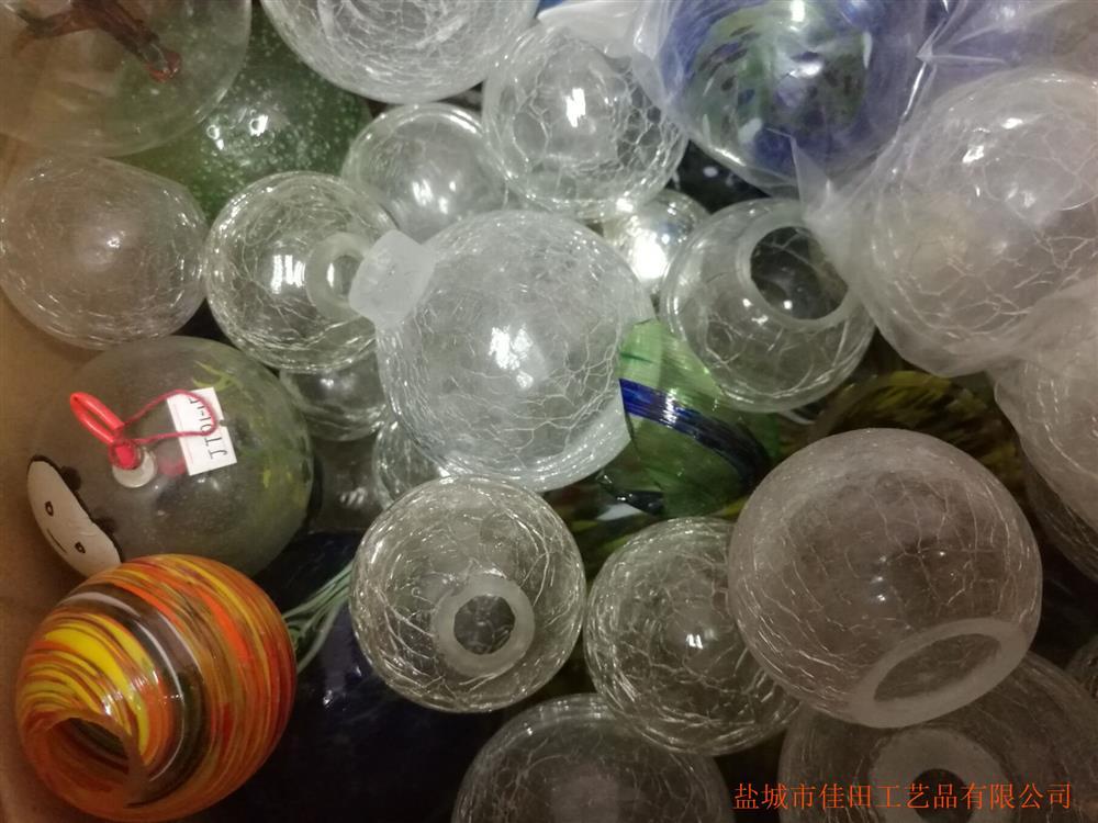 花园灯罩 空心玻璃球 花点球