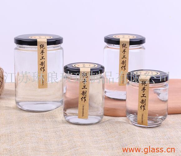 高白料透明玻璃酱菜瓶