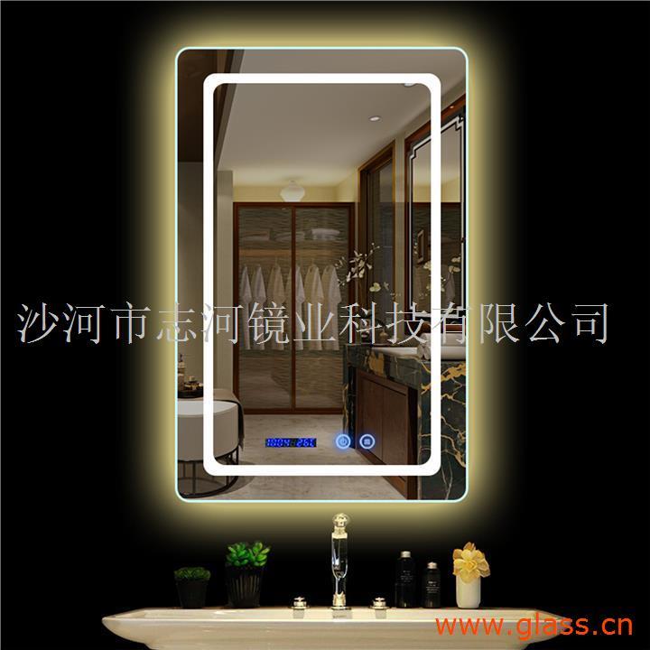 丽晶定制化妆无框卫浴镜壁挂卫生间酒店 防雾智能LED浴室镜子
