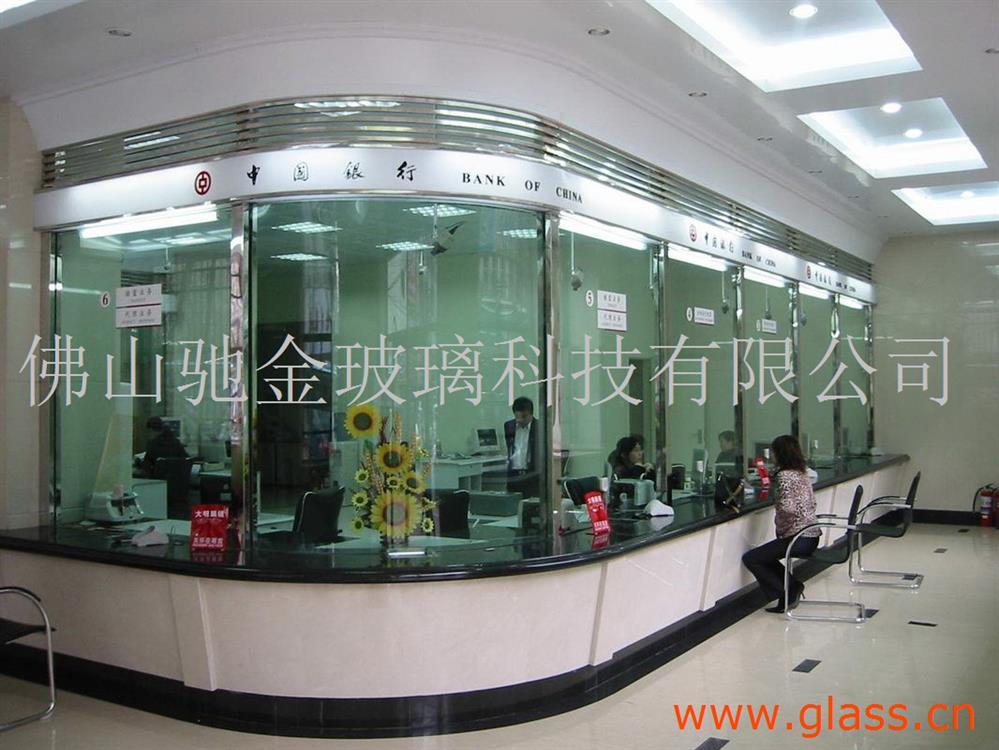 防弹玻璃银行用防弹玻璃夹胶安全玻璃