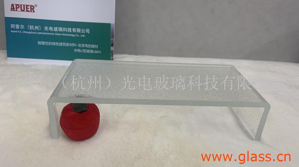 杭州超白LOW-E外光面内压花U型玻璃 U型玻璃价格 U型玻璃厂家 钢化U型玻璃