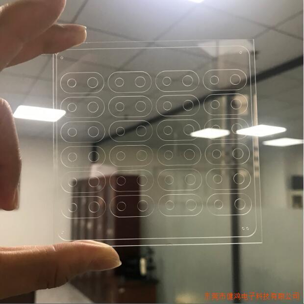 健鸿电子激光切割加工玻璃摄像头
