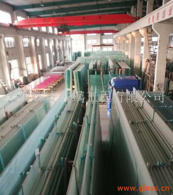 华东地区超大超宽19mm钢化玻璃