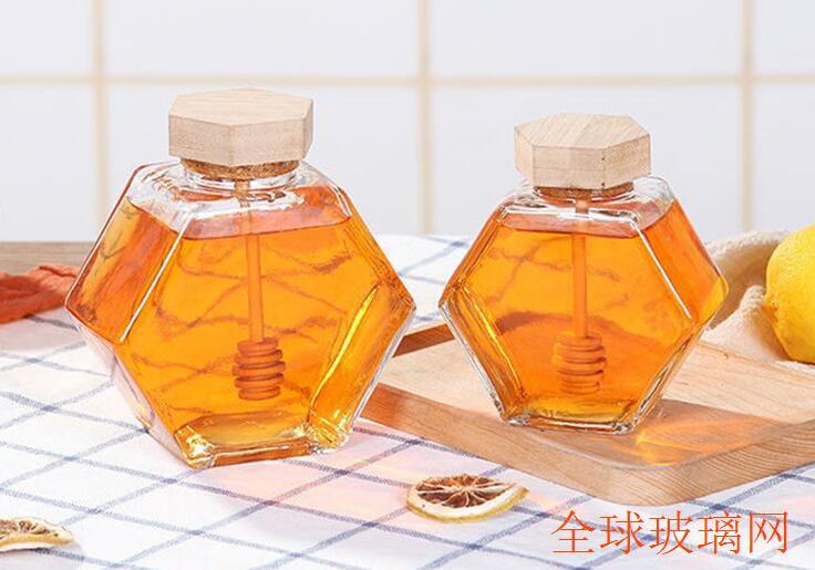 玻璃蜂蜜瓶果酱瓶六楞瓶燕窝分装瓶密封瓶