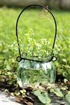 zakka复古吊瓶烛台水培植物玻璃花瓶容器玻璃瓶250g