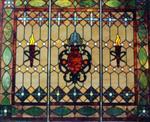 磨边镶嵌玻璃屏风